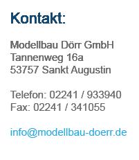 Kontaktinformationen - Modellbau Dörr GmbH